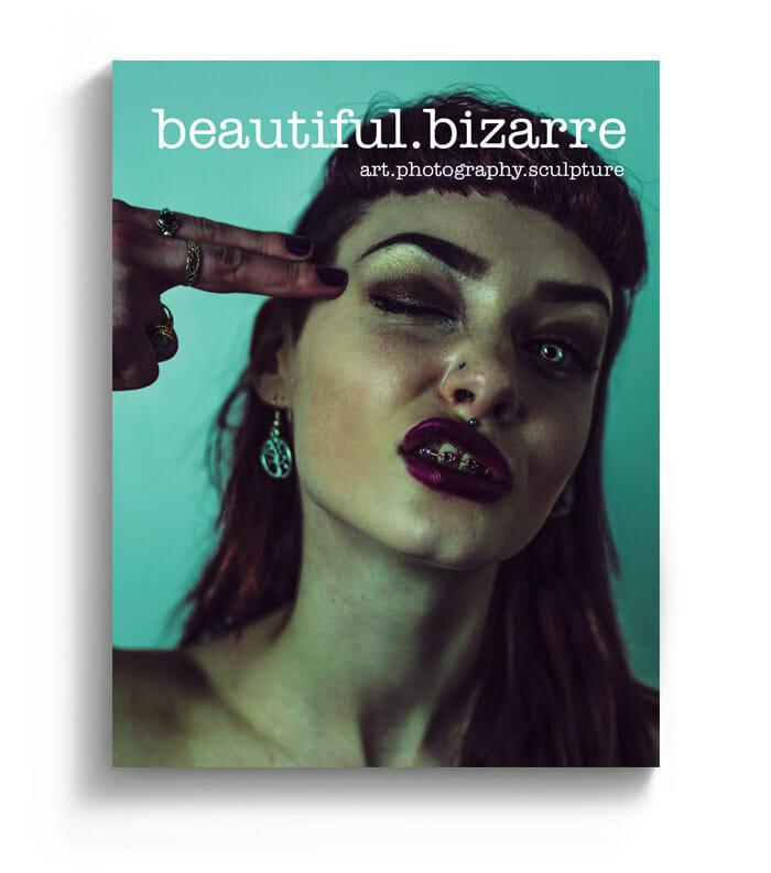 Haris Nukem photography on the cover of Beautiful Bizarre art magazine