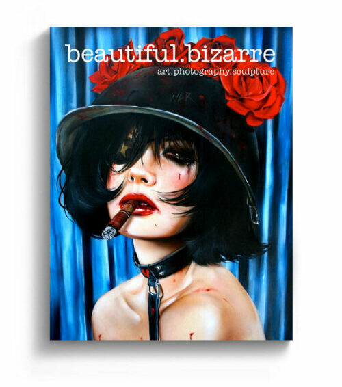 Brian Viveros new contemporary art painting on the cover of Beautiful Bizarre art magazine
