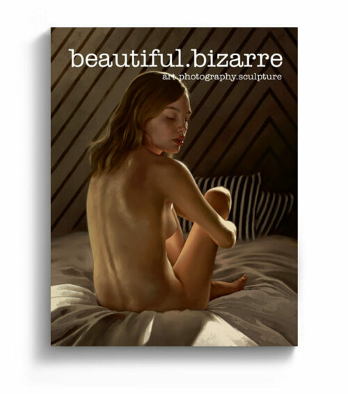 Aaron Nagel figurative realism painting on the cover of Beautiful Bizarre art magazine