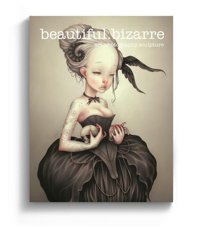 LostFish digital painting on the cover of Beautiful Bizarre art magazine
