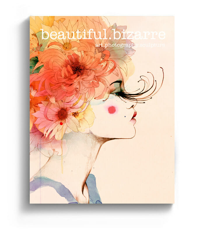 Conrad Roset watercolor painting on the cover of Beautiful Bizarre art magazine