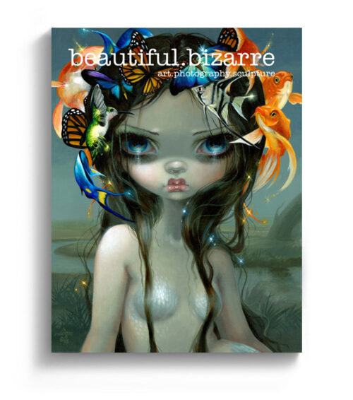 Jasmine Becket-Griffith pop surrealism painting on the cover of Beautiful Bizarre art Magazine