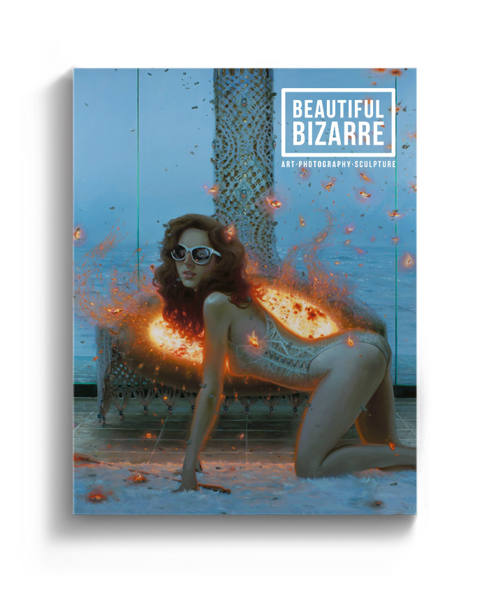 Jonathan Viner figurative painting on the cover of Beautiful Bizarre art magazine