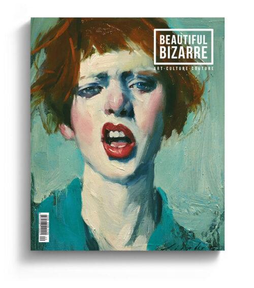 Malcolm Liepke figurative painting on the cover of Beautiful Bizarre art magazine