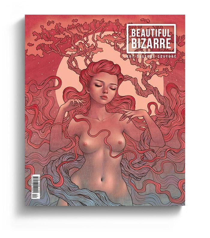 Audrey Kawasaki - Gaia nude pop surrealism painting