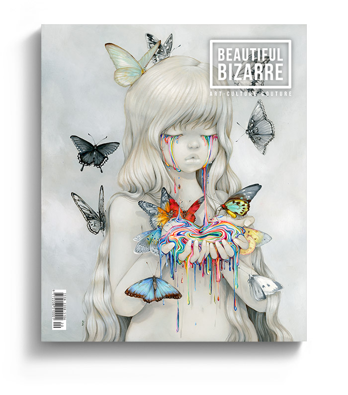 Beautiful Bizarre Magazine - Issue 30 - with Camilla d'Errico's pop surrealism painting on the cover