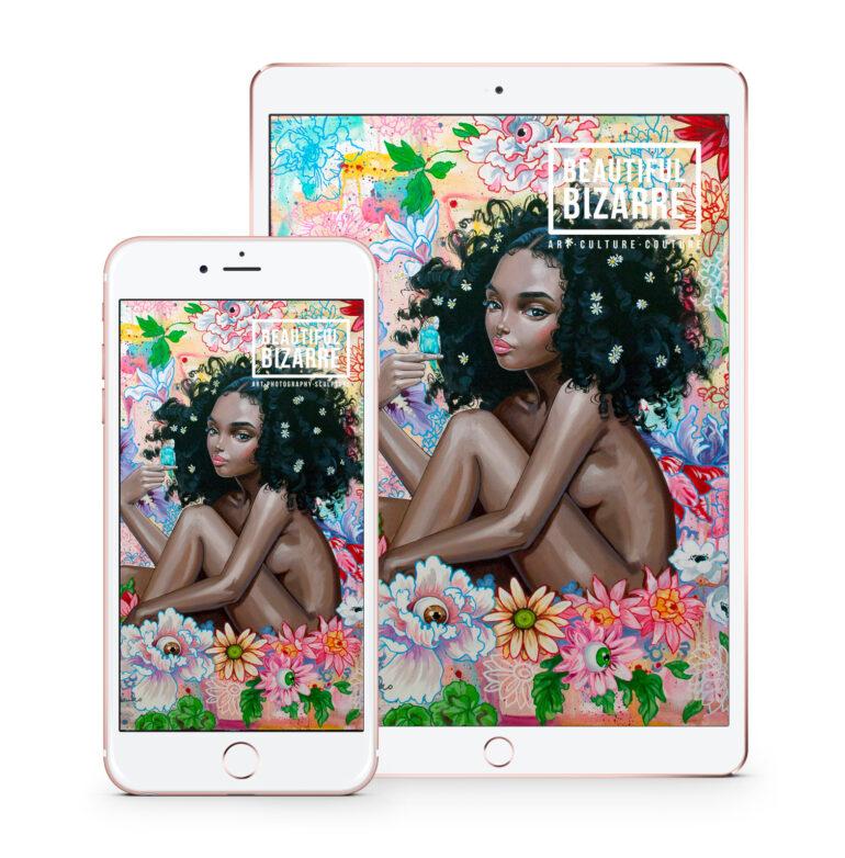 Beautiful Bizarre Magazine - Issue 34 - Digital. Julie Filipenko painting on cover